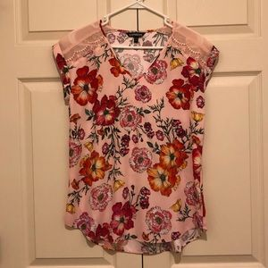 Pink floral blouse 👚
